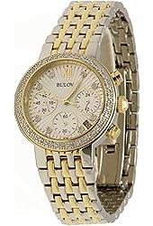 Bulova Diamond Chronograph Stainless Steel Women's watch #98R214