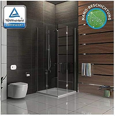 Cabina de ducha 100 x 100 easyclea puertas de Alpes Berger cuadro ...