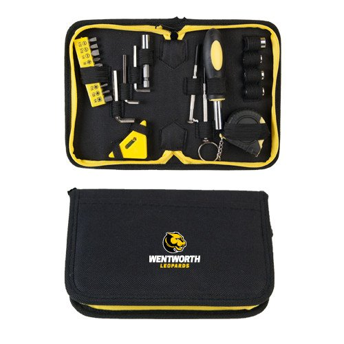 CollegeFanGear Wentworth Compact 23 Piece Tool Set 'Official Logo' by CollegeFanGear