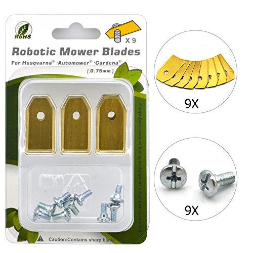 Headley Tools - Cuchillas de Repuesto para cortacésped robótico ...