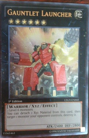 (Yu-Gi-Oh! - Gauntlet Launcher (LTGY-EN045) - Lord of the Tachyon Galaxy - 1st Edition - Ultimate Rare)