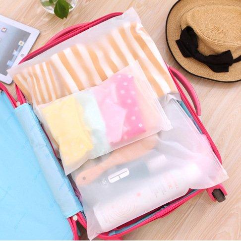 Pratico Mylunn (TM)-Contenitore portatile per valigie e borse da viaggio, con scomparti, per indumenti e biancheria intima, confezione di 5J2W Organizer