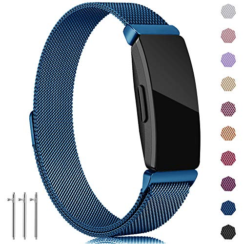 - findway Compatible with Fitbit Inspire HR Bands/Inspire Band, Inspire Accessories Stainless Steel Magnet Bracelet Women Men Wristbands Strap Compatible for Fitbit Inspire & Inspire HR Fitness Tracker