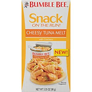 Bumble Bee Snack On The Run Crackers Kit, Cheesy Tuna Melt, 3.35 Ounce (Pack of 12)