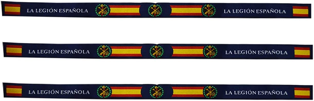 ALBERO 3 x Pulsera Legión Española Tela. 3 Unidades. 29 x 1.5cm ...