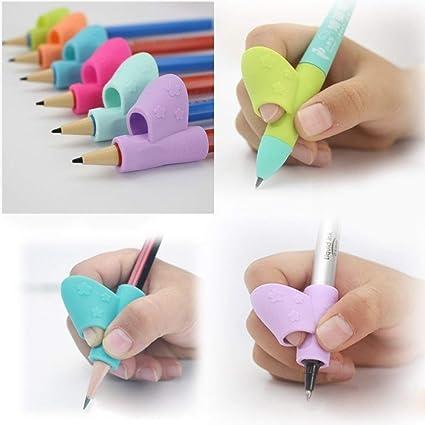 Juneping 3 piezas de agarres para lápiz, corrector de ...