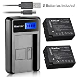 Kastar Battery (X2) & LCD Slim USB Charger for Panasonic DMW-BLC12, DMW-BLC12E, DMW-BLC12PP and Panasonic Lumix DMC-FZ200, DMC-FZ1000, DMC-G5, DMC-G6, DMC-GH2 Digital Cameras