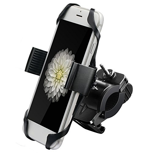 IPOW Metal Bike & Motorcycle Cell Phone Mount, with Unbreakable Metal Handlebar Holder for Bicycle, Motorbike, ATV. Fits iPhone, Samsung or Any Smartphone/GPS (Spinning Hook Triple)