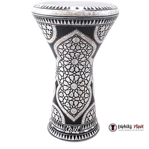 GAWHARET EL FAN New Generation 2.0 DOUMBEK Black Castle Drum 17.5'' MOP Darbuka by Gawharet El Fan