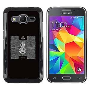 Caucho caso de Shell duro de la cubierta de accesorios de protección BY RAYDREAMMM - Samsung Galaxy Core Prime SM-G360 - Black & White Abstract