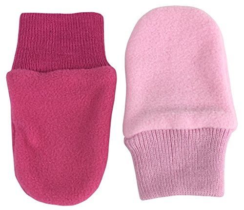N'Ice Caps Baby Girls and Toddler Cozy Winter Fleece Mittens - 2 Pair Pack (6-18 Months, Pink/Fuchsia Pack - Infant No (6 Pair Pack Navy Accessories)