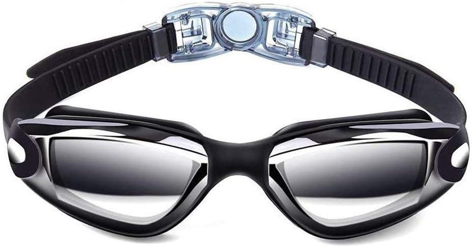Sosila Schwimmbrille Tauchbrille Antibeschlag Silikon Nasenbr/ücke Anti-Fog Beschichtung UV-Schutz Brillengl/äser Wasserdicht weicher Nasenaufsatz Schwimmbrille mit Brillenetui Schutzh/ülle