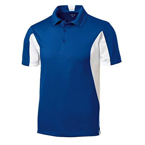 Joes USA Mens Moisture Wicking Side Blocked Micropique Polos- Regular, ...