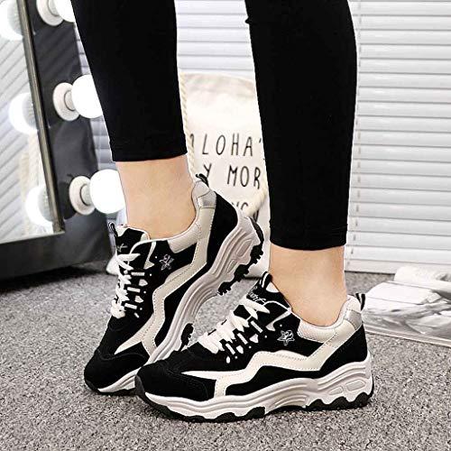 Calzado Para Logobeing Deportivas De Casual Sneakers Negro Tejida Zapato Deportivo Zapatillas Mosca Mujer Respirable qxFRgS