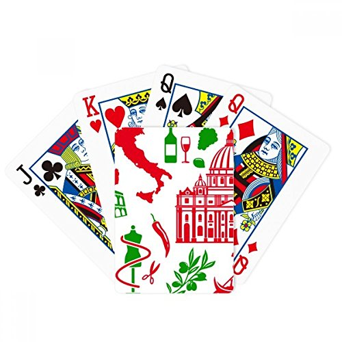 Italy Flag Roman Theater Poker Playing Cards Tabletop Game Gift by beatChong