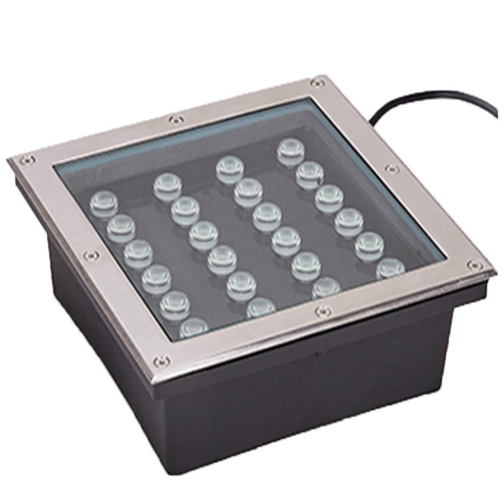 LIGHTZHAO Lampada da Miniera, Guidato Impermeabile Evidenziare Acciaio Inossidabile IP67 Paesaggio All'aperto Riflettore (colore   La Luce Gialla, Dimensioni   24W)