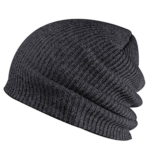 Paladoo Winter Hats Knitted Beanie Caps Soft Warm Ski Hat Dark (Knit Dog Ear Hat)