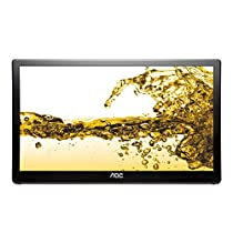 AOC E1659FWU LED monitor - 15.6 inch - 1366 x 768 - 200 cd/m2 - 500:1 (dynamic) - 8 ms - USB - glossy piano black