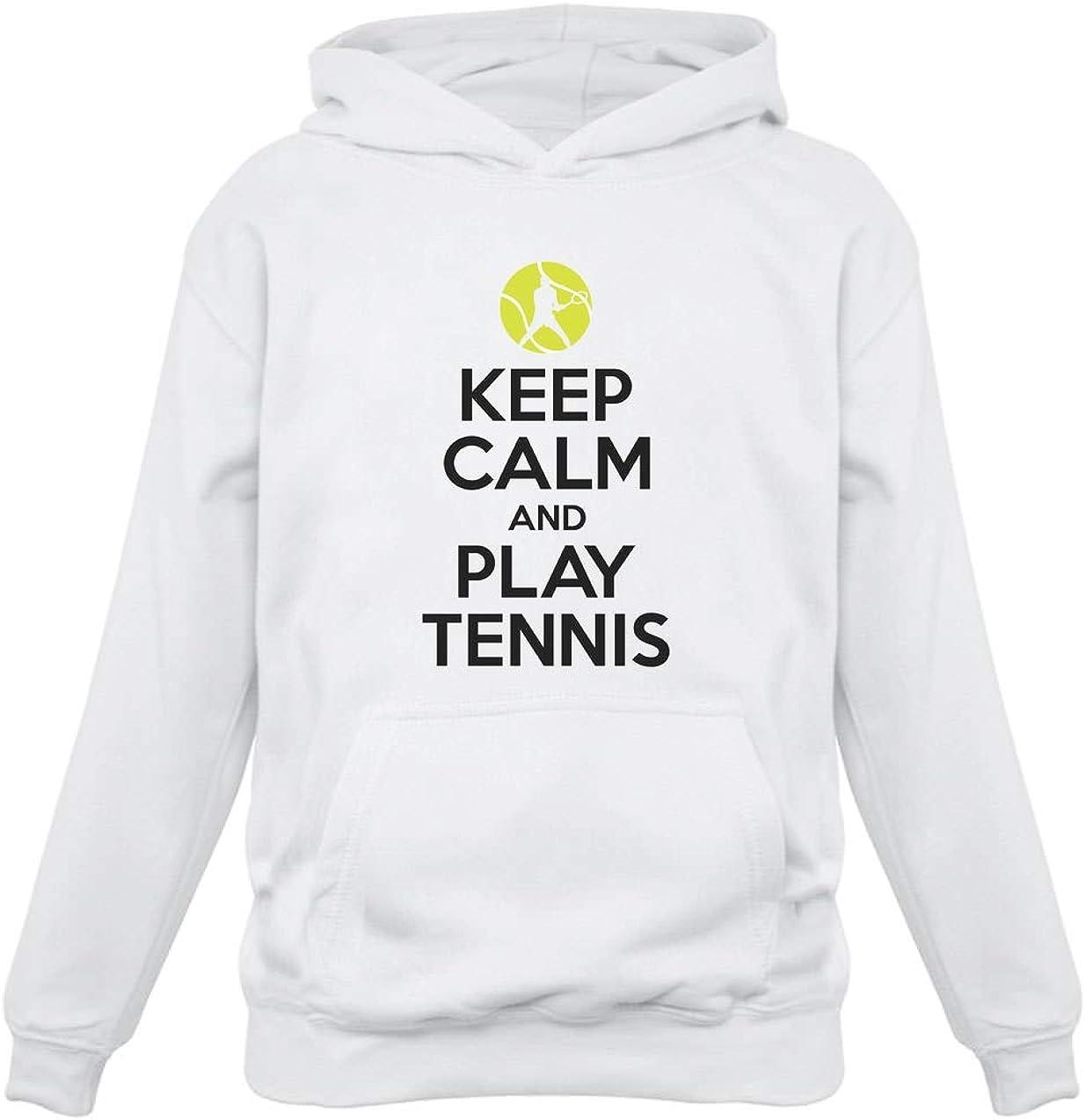 Cadeau pour Joueur de Tennis Keep Calm Sweatshirt Capuche Enfant