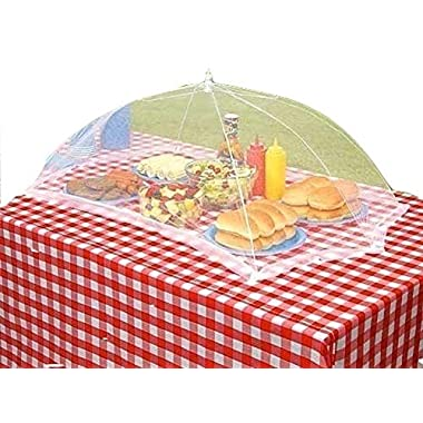 Set of 2 Giant Outdoor Mesh Food Cover Protector Umbrella