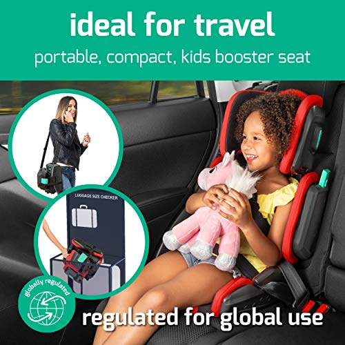 515GAz6HOpL - Hifold Fit-and-fold Highback Booster Seat, Racing Red – Adjustable Highback Booster Car Seat For Everyday, Carpooling And More – Foldable Booster Seat For Travel