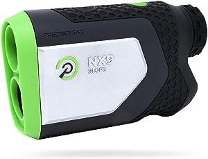 Precision Pro Golf, NX9 Slope Golf Rangefinder, Laser Golf Rangefinder with Pulse Vibration, 400 Yard Range, 6X Magnification, Magnetic Cart Mount, Lifetime Battery Replacement Service