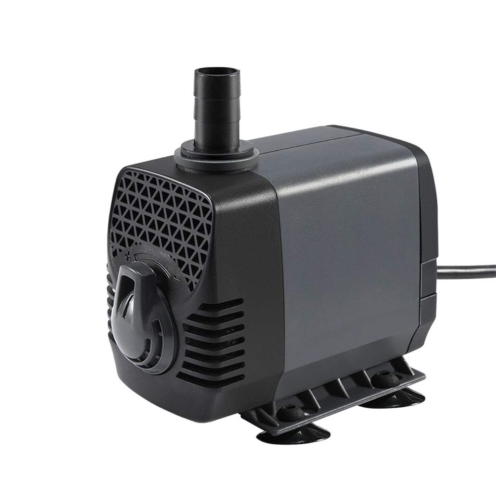 Ankway Upgraded 320GPH(1200L/H, 25W) Submersible Water Pump Humanized Rotation Switch with 2 Nozzles for Pond, Aquarium, Fish Tank Fountain Water Pump Hydroponics, with 5.9ft (1.8M) Power Cord