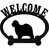 Old English Sheepdog Metal Welcome Sign