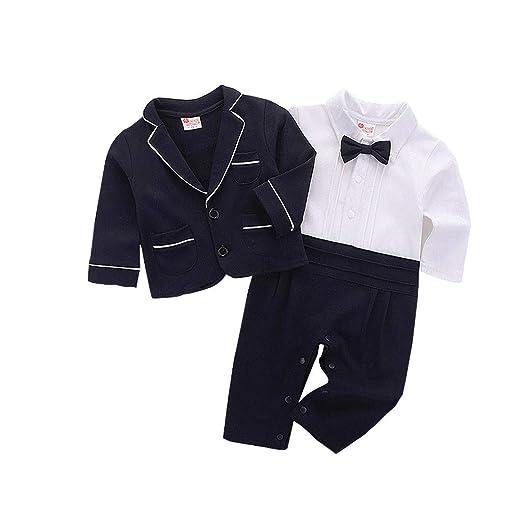 7ca766afa Amazon.com: Cool Baby Boys Suit Sets, Toddler Baby Boy Bowtie Gentleman  Jumpsuit T-Shirt Pants Wedding Suit Clothes Sets: Arts, Crafts & Sewing