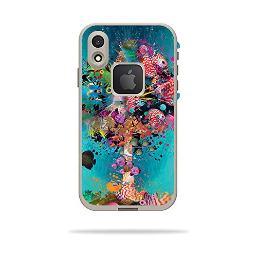 MightySkins Skin for LifeProof FRE iPhone XR Case - Surf Palm | Protective, Durable, and Unique Vinyl Decal wrap Cover | Easy to Apply, Remove, and Change Styles | Made in The USA