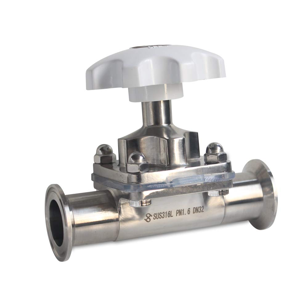 1.5 inch Sanitary Stainless Steel 316L Tri-Clamp OD 64mm Diaphragm Valve Silicone Seal RanBB 1//1.5 inch Diaphragm Valve Tri Clamp