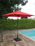 8′ Brand new Outdoor Garden Patio Aluminum Crank Tilt Umbrella RED CBM1290 Review