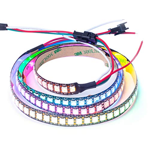 Dmx Cable Wiring - BTF-LIGHTING WS2812B 144 leds/pixels/m Black PCB Individual Addressable Full Color led pixel strip Dream Color Non-waterproof 3.2FT 1m