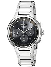 Seiko Men's SSC439 Chronograph Analog Display Japanese Quartz Silver Watch