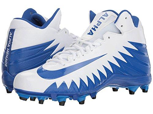 浸す結果として期待する(ナイキ) NIKE メンズフットボール?アメフトシューズ?靴 Alpha Menace Varsity Mid White/Game Royal/Game Royal/Photo Blue 11 (29cm) D - Medium