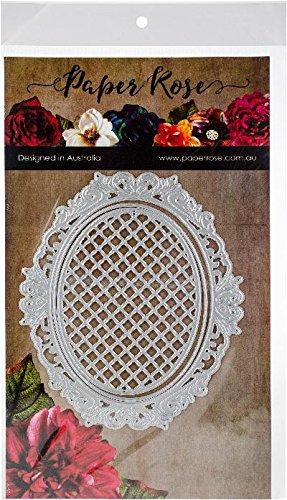 Paper Rose 16826 Dies Victorian Oval Lattice Frame, Multi