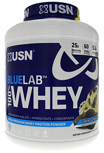 Cheap USN Blue Lab 100% Whey Cookies & Cream For Optimal Muscle Support, Nitrogen Retention and Amino Acid Conversion 4.5 LBS