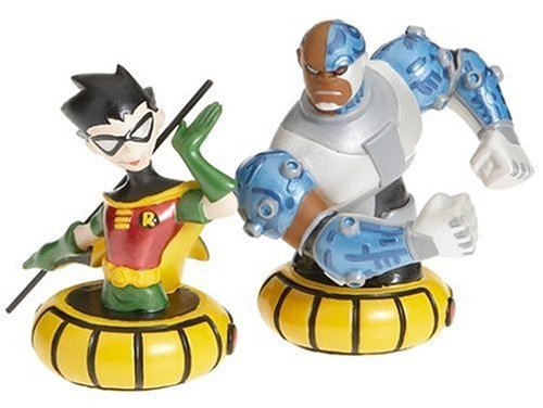Paperweight Teen Titans Robin and Cyborg 2 Piece Boxed Set