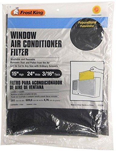 Frost King Room Air Conditioner Filter 15 x 24 x 3/16 (2 Pack)