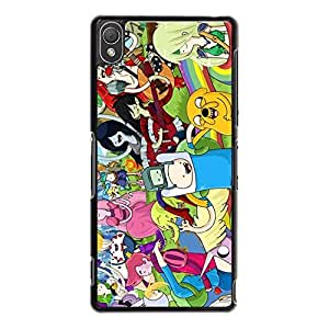 Sony Xperia Z3 Cover,Adventure Time Finn&Jake Phone Case Unique Custom Anime American Comic TV Series Back Case Cover (Adventure Time with Friend)