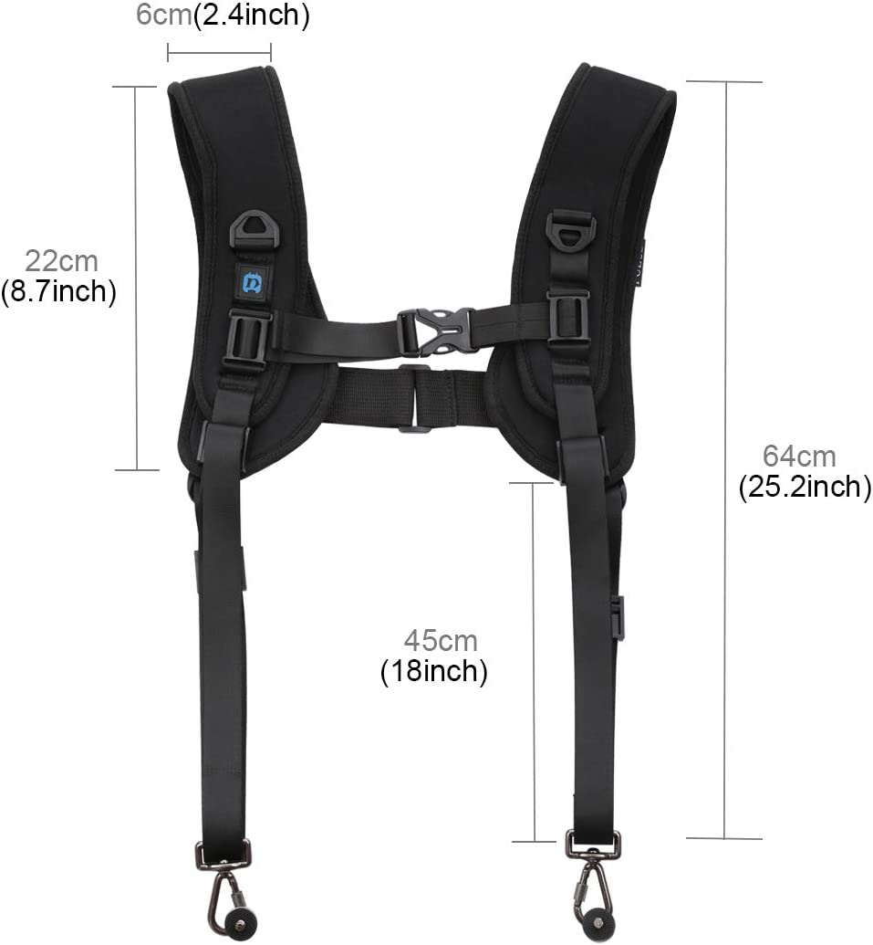 Yifant Quick Release Dual Shoulder Strap for DSLR//SLR Camera Accessories Camera Vest Shoulder Lanyard Soft Harness Belt
