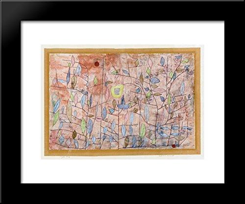 Sparse foliage 20x24 Framed Art Print by Paul Klee