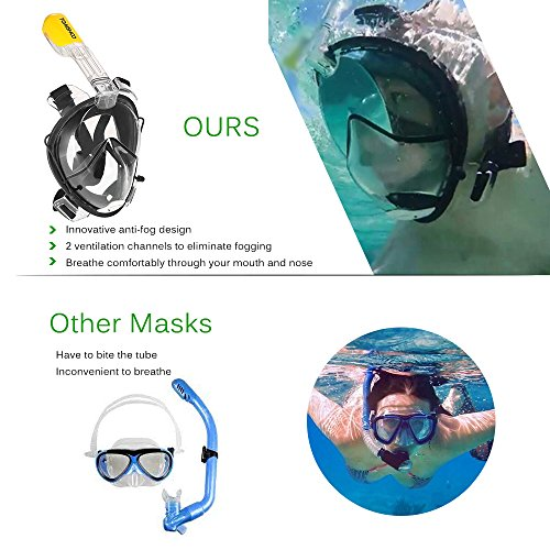 TOMSHOO 180° View Panoramic Full Face Snorkel Mask $19.79 (Was $53)