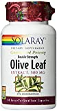 Solaray Olive Leaf Double Strength Supplement, 500 mg, 30 Count