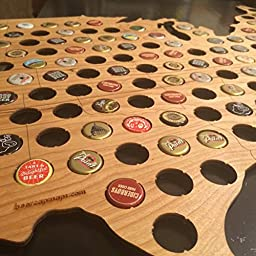 Beer Cap Map Wall Hanger - As seen on The Today Show