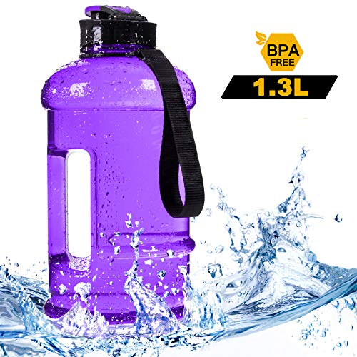 Dishwasher Safe New Material Tritan Plastic Hot Cold Water Jug Container Big Capacity 2.2L 75oz Half Gallon 1.3L 44oz 550ml Large Leakproof BPA Free Water Bottle for Fitness Camping Bicycle - Water Hot Cold