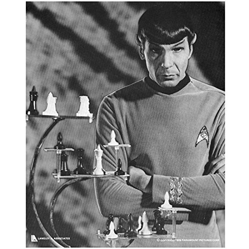 Leonard Nimoy 8 inch x 10 inch photo Star Trek Fringe Mission Impossible chess board - Mission Impossible Actor