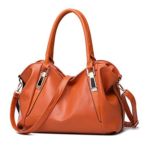 Leo Lamb Designer Women Handbag Female Pu Leather Bags Handbags Ladies Portable Shoulder Bag Office Ladies Hobos Bag Totes ()