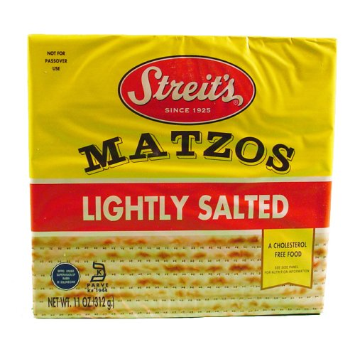 Streits Lightly Salted Matzo, 11 Ounce - 12 per case.