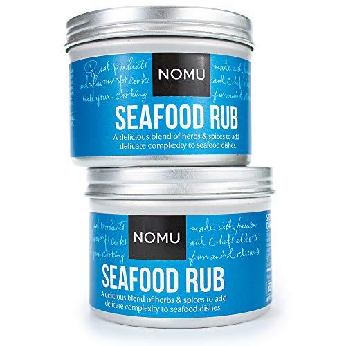 (NOMU Seafood Seasoning Rub (3.88 oz | 2-pack) | MSG & Gluten Free, Non-GMO, Non-Irradiated)